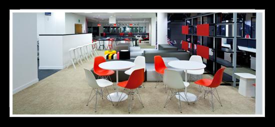 Google london offices phase 1 office design un peu de for Interior design agency brighton